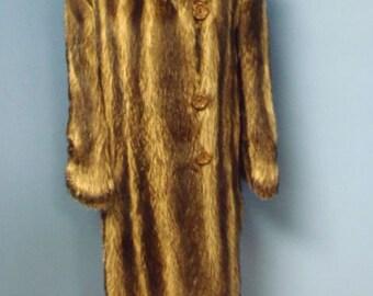 Vintage Raccoon Full Length Fur Coat
