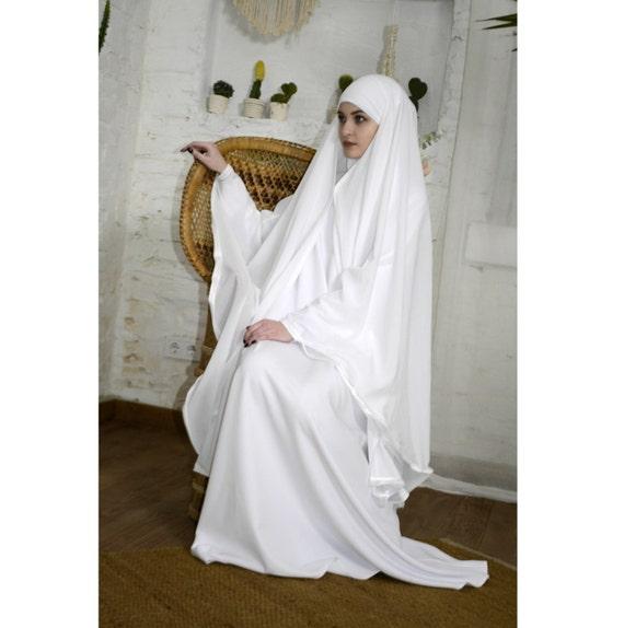 Gut bekannt Blanc de mariage Khimar Burqa moderne mariée Burka Cape ZL26