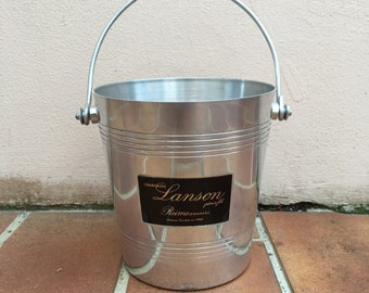 Vintage French Champagne French Ice Bucket Cooler Made in France LANSON TINY