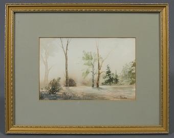Watercolour, Original,  Vintage Watercolour,  Landscape,  Signed,  P Sutton,  Framed