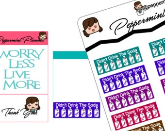 Didn't Drink the Soda Planner Stickers,  Planner Stickers, {#78}