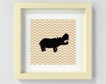 Instant Download Safari Animal Print, Printable Safari Animal, Printable Hippo, Hippo Nursery Print, Printable Nursery Art, Hippo Poster