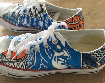 Duke University Hand Painted Custom Sneakers