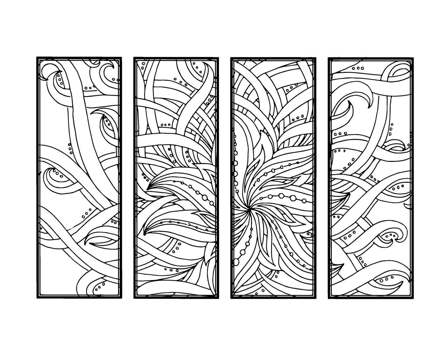 Bookmarks to color adults - This Is A Digital File