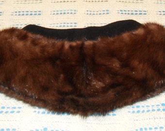 Vintage Mink Collar Sable Mink Fur Coat Collar