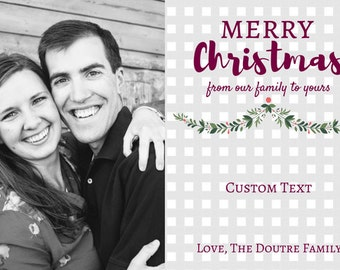 Merry Postcard | Custom Christmas Postcard size
