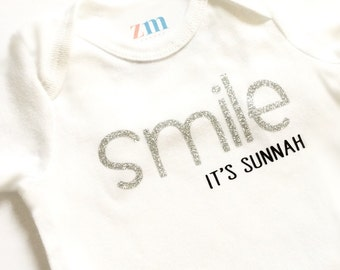 Smile it's Sunnah bodysuit, t-shirt, Islamic gift, Muslim baby, baby shower, Aqiqah, Bismillah, Prophet Muhammad, happy, peace, boy, girl