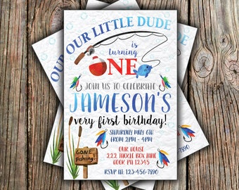 Gone Fishing Birthday Invitation - Any Age