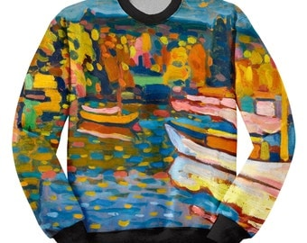 Sweatshirt Kandinsky, Sweatshirt Painting, Sweatshirt printing, Sublimation printing, Sweatshirt Design, Sweatshirt Painters