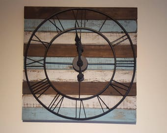 Rustic handmade Large Wall Clock