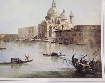 Italian Venice Cathedral Francesco Guardi 18th Century Santa Maria Della Salute Print SALE