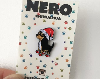 Chihuahua Dog Christmas Festive, Soft Enamel Pin, Lapel Pin
