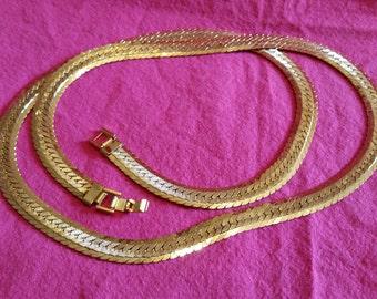 Fancy Herringbone Necklace