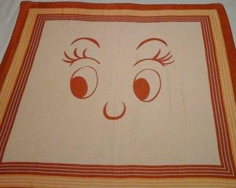 Vintage, orange, face scarf,bandana