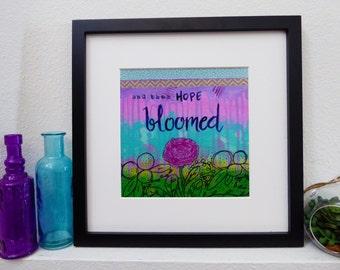 Mixed Media Photo Print Giclee Art - Hope Bloomed