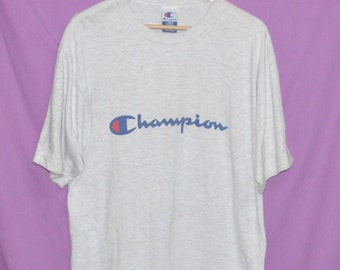 Reserved Vintage 90s Champion Authentic Athletic Apparel Grey Made in USA Large T-Shirt