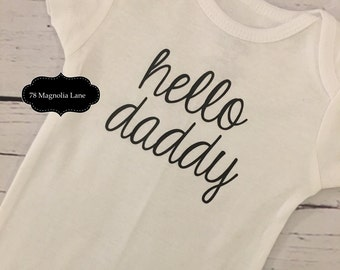 Pregnancy Announcement / New Daddy/ New Grandparents / Hello Daddy / New Dad Gift / Photo prop