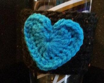 Blue Heart Cup Cozy
