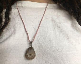 SALE Agate Piece Necklace