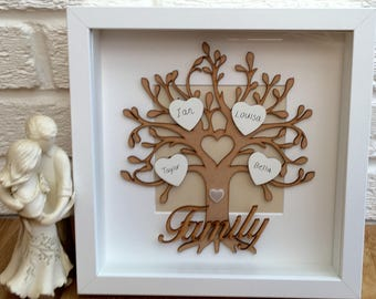 Family tree, personalised handmade gift, family tree frame, personalised family tree, grandchildren, ancestry gift