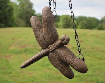 Vintage Cast Iron Dragonfly Birdfeeder, hanging birdfeeder