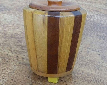 Tea Caddy, wooden, vintage