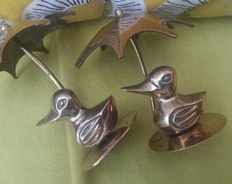 Brass ducks, vintage