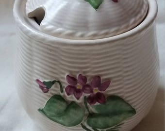 Unusual Vintage Crown Devon preserve pot, jam, jelly, marmalade pot, retro