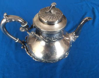 Vintage French silver plate coffee pot