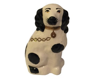 Handpainted Staffordshire Dog With Stamp and Initials