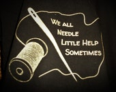 Craft Needle Thread Pun T-shirt : Hand Screen Printed, punny, crafter, crafty, sewing, etsy, clever, crochet, small business, men's, women's