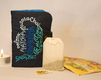 "Tea to go bag motif ""Teas"", bag, custom, tea drinkers, gift"