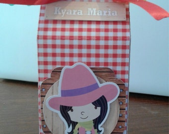 6 Cowboy/Cowgirl Party Candy Boxes