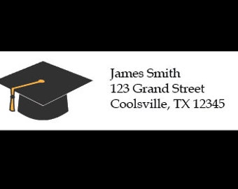 30 Personalized Graduation Address Labels - Custom Graduation Return Address Labels - Graduation Stickers - Graduation Labels - Graduation