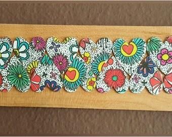 Wood Panel Wall Design - Hearts