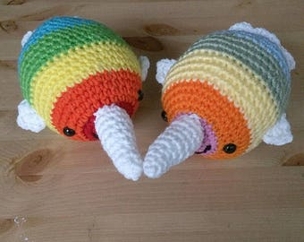 TO BE DISCONTINUED-Rainbow Narwhals