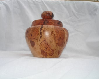 Cherry Burl Bowl with cover