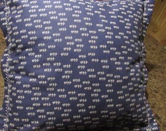 Pillow Cover,  Navy Blue and White, Envelope Style