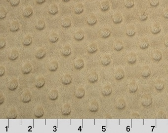 Shannon Minky Fabric, Shannon Dimple Dot Minky, Sand Dimple Dot Minky, Sand Minky Fabric, Minky Fabric, Minky Fabric By The Yard