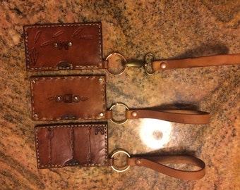 Woman's Clutch Wallet and Wristlet Combo