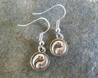 Yin yang earrings, jewellery, gift