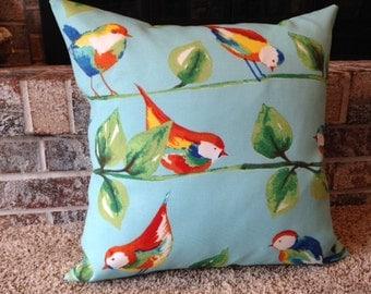 """18"""" x 18"""" Indoor/Outdoor Throw Pillow Cover, Birds"""