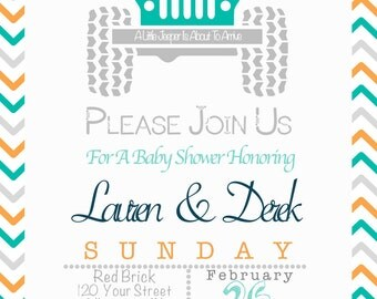 Gender Neutral Baby Shower Invite - Jeep Theme