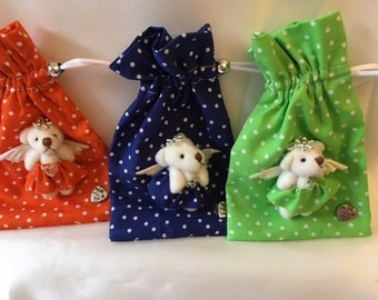 Scented pouches with mini angel bear decoration cute gift