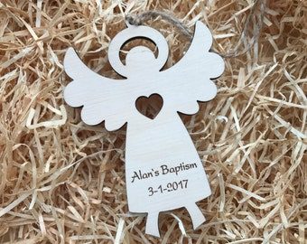 Personalized Baptism Favor, Wooden Personalized Angels, Angel Baby Shower, Personalized Magnet Favor, Baptism Gift for Godparents, Keychai