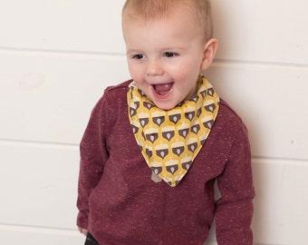 Drool Bib Boy - Baby Drool Bibs - Drooling Bibs - Baby Bib Boy - Acorn Bandana Bib for Boy - Bandana Bibs - Baby Gift - Organic Baby Clothes