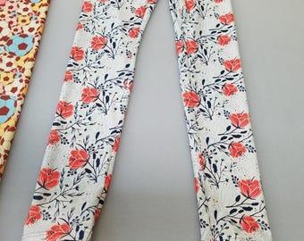 Rose White Floral Leggings!