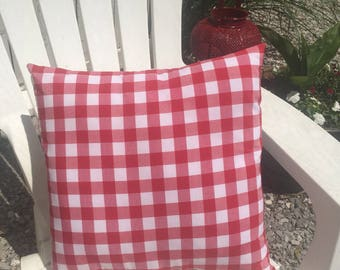 Red Check Pillow Cover