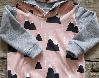 Pink Mountain Hoodie/Tunic Dress
