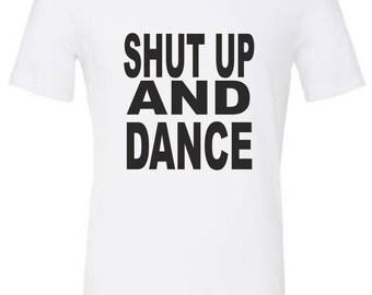 shut up and dance etsy. Black Bedroom Furniture Sets. Home Design Ideas